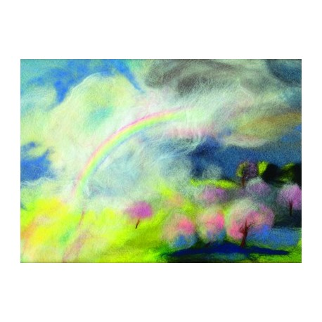 "Carte postale ""Arc-en-ciel"" (Avril)"