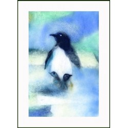 "Carte postale ""Pinguin"""