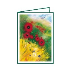 "Mini-carte double ""Coquelicots"""