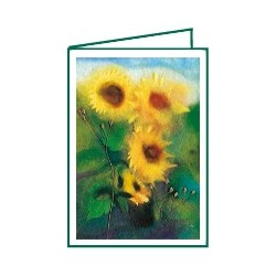 "Mini-carte double ""Tournesols"""