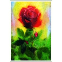 "Petite carte simple ""Rose"""