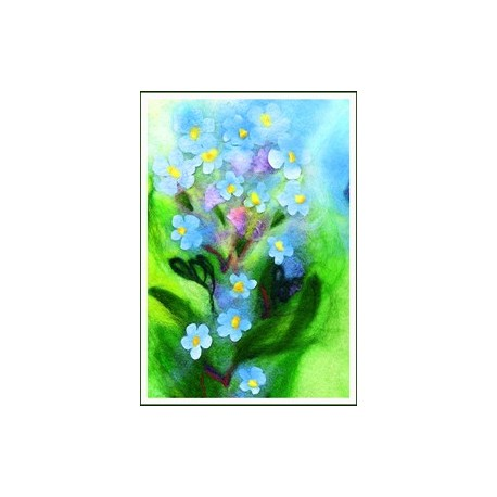"Petite carte simple ""Myosotis"""