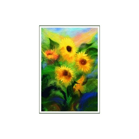 "Petite carte simple ""Tournesols"""