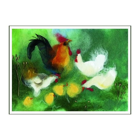 "Carte postale ""Poussins"""