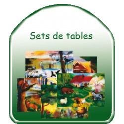 Lot des 5 Sets de tables